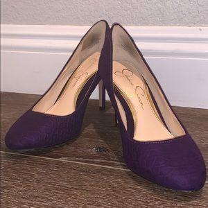 Jessica Simpson Violet Purple Snake Skin Texture 6